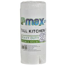 Maxcare Biodegradable Kitchen Tidy Bags Medium 27L 30 Pack