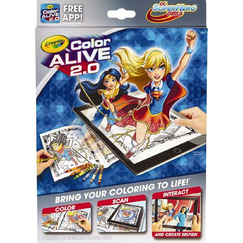 Crayola Color Alive 2.0 DC Super Hero Girls