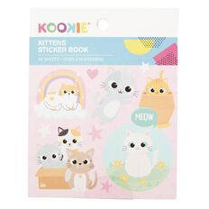Kookie Mini Sticker Book 12 Sheets Kittens