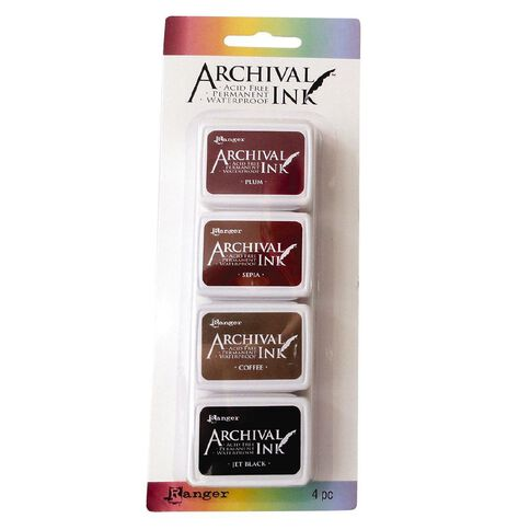 Ranger Archival Mini Ink Pads 4 Pack Neutrals