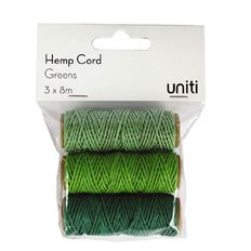 Uniti Hemp Cord Greens 3 Pack