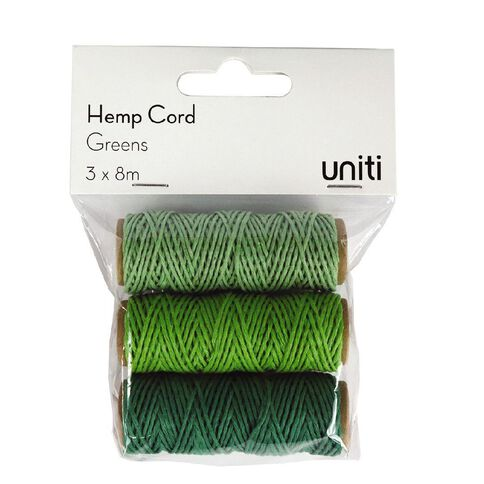 Uniti Hemp Cord Greens 3 Pack