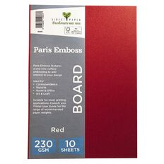 Direct Paper Paris Emboss 230gsm A4 10 Pack Red