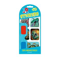 Peaceable Kingdom Stickers 3D Sea Monsters