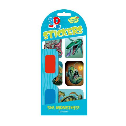 Peaceable Kingdom Stickers 3D Sea Monsters