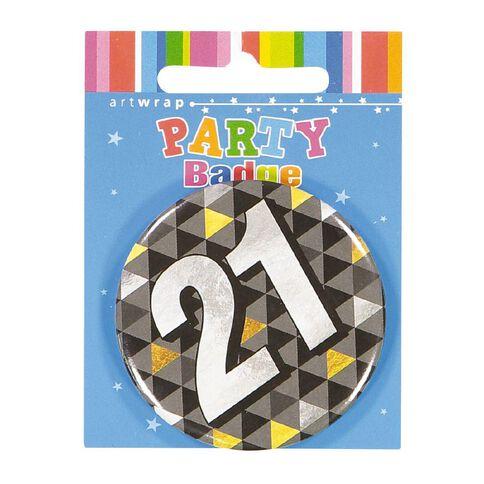 Artwrap 21st Birthday Badge Medium
