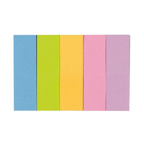 Impact Fluro Sticky Page Marker 15mm x 50mm 100 Sheet 5 Pack