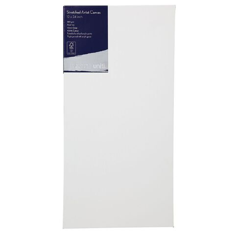 Uniti Platinum Canvas 12x24 Inches 380Gsm