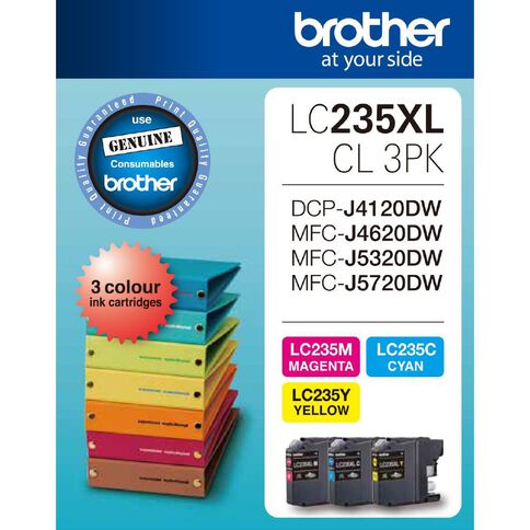 Brother Ink LC235XL Colour 3 Pack (1200 pages)