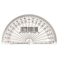 Taurus Protractor 180 10cm Clear