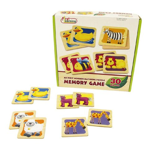 Play Studio Wooden Matching Puzzle Memory Game