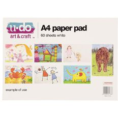 U-Do Paper Pad 60 Sheet White A4