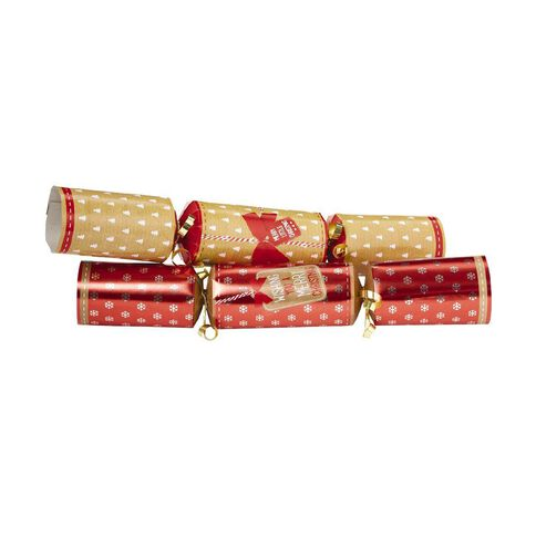 Artwrap Christmas Premium Crackers Kraft 30cm 10 Pack