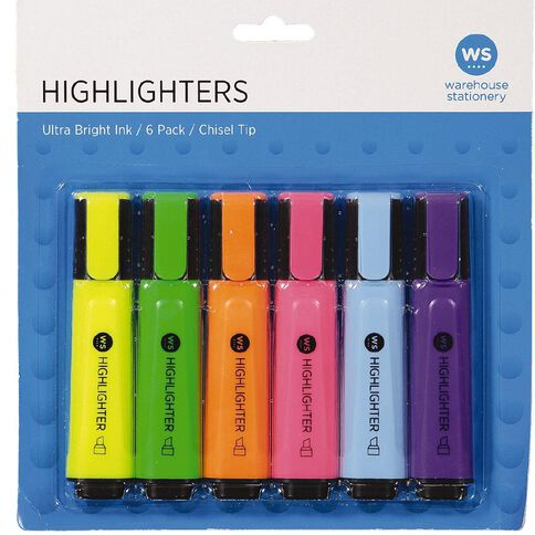 Impact Highlighters 6 Pack Mixed Assortment 6 Pack