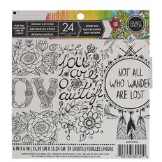 Craft Smith Colouring Dream Catcher Pad 6in x 6in 24 Sheet White