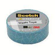 Scotch Washi Craft Tape 15mm x 10m Cracked Aqua