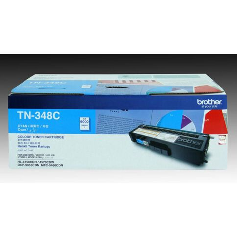 Brother Toner TN348 Cyan (6000 Pages)