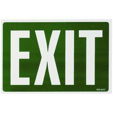 Headline Sign Exit White