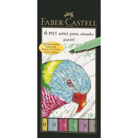 Faber-Castell Pitt Artist Brush Pens Pastels 6 Pack