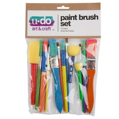 U-Do Paint Brush Set 15 Pieces
