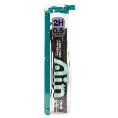 Pentel Ain Stein Pencil Leads 2H 0.5mm 40 Pack