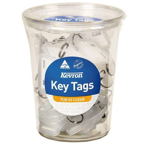 Kevron ID5 Key Tags Clear 50 Pack