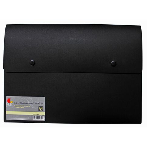 GBP Stationery Eco Document Wallet Black