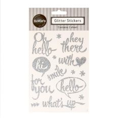 Rosie's Studio Glitter Script Stickers Greetings