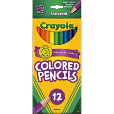 Crayola Coloured Pencils 12 Pack Multi-Coloured