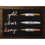 Sharpie Permanent Marker Chisel Metallic Assorted 3 Pack