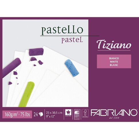 Fabriano Tiziano Pastel Art Pad 160GSM White 9in x 12in