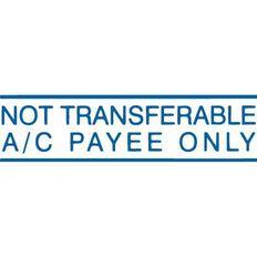 Xstamper Stamp Not Trans Ac Blue