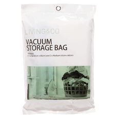 Living & Co Vacuum Storage Bag Multi Size Clear 4 Pack