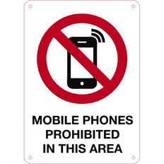 Impact Mobile Phones Prohibited Sign Small 340mm x 240mm