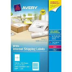 Avery Internet Shipping Labels 10 Pack 2 Per Sheet