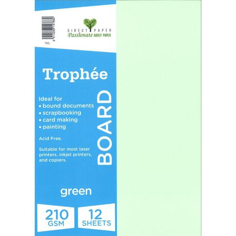 Trophee Board 210gsm 12 Pack Green A4