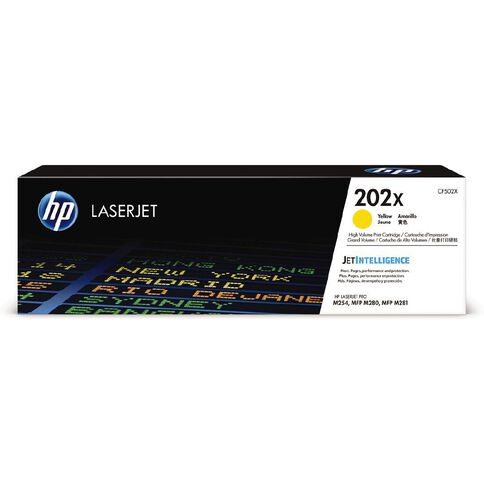 HP 202X LaserJet Toner Yellow (2500 Pages)