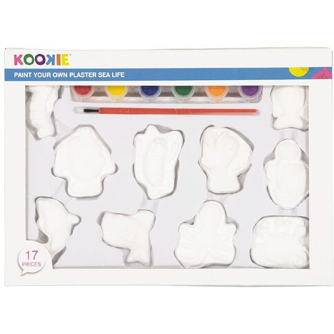 Kookie Paint Your Own Plaster Sea Life 10 Pack