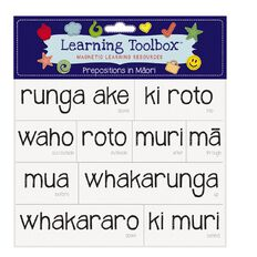 Learning Tool Box Magnetic NZ Maori Prepositions Assorted