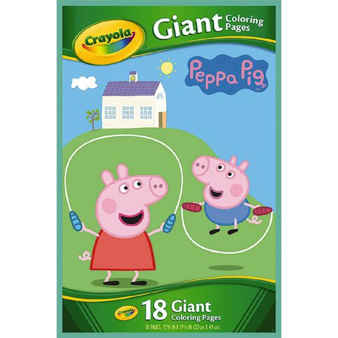 Crayola Giant Colouring Pages Peppa Pig