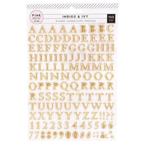 Indigo & Ivy Sticker Paper Pad Indigo and Ivy Puffy Gold Foil