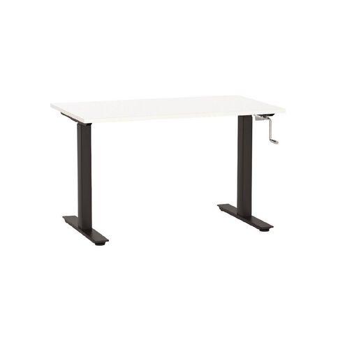 Agile Height Adjustable Desk 1200 White/Black