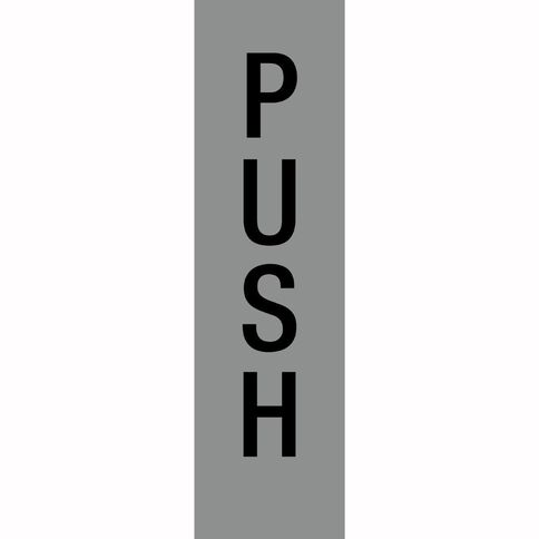 APLI Self Adhesive Push Silver