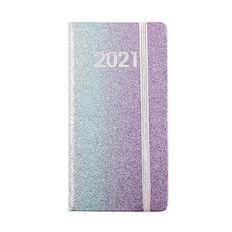 Dats Diary 2021 Slimline Week To View Glitter Assorted