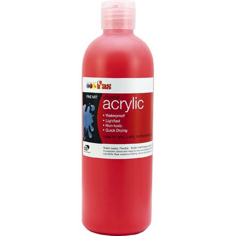 FAS Paint Student Acrylic 500ml Warm Red Red 500ml