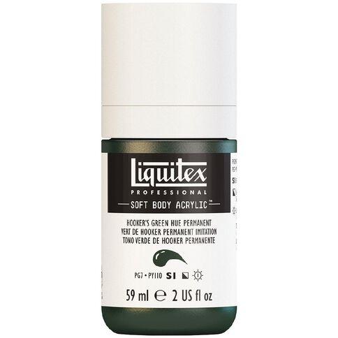 Liquitex Soft Body Acrylic 59ml Hookers Green Hue S1