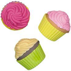 Kookie Novelty19 Cupcakes Eraser 3 Pack