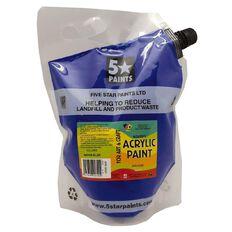 Fivestar Acrylic Paint Warm Blue 1.5 litre Pouch