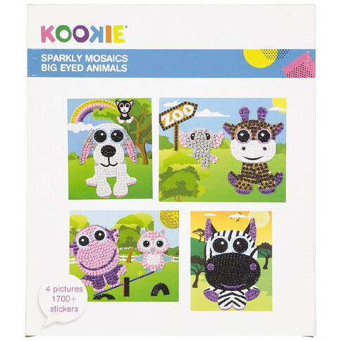 Kookie Sparkly Mosaics Big Eyed Animals