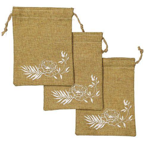 Party Inc Hessian Favour Bag 20cm x 15cm 3 Pack